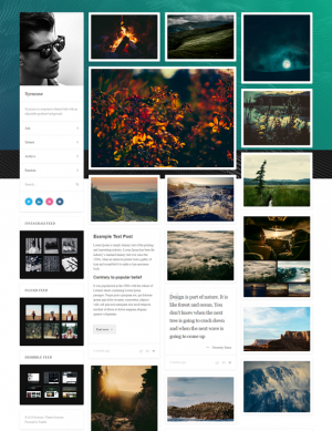 Syracuse is a responsive Tumblr theme built with an adjustable gradient background.