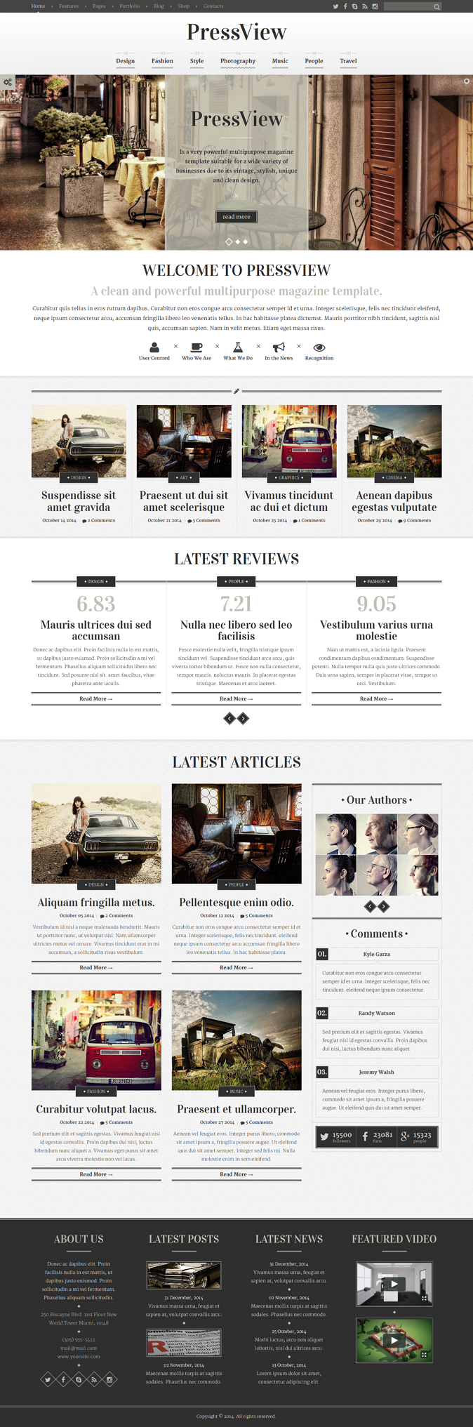 template applicable for newspapers, magazines, blogs, personal websites or any other type of sites.