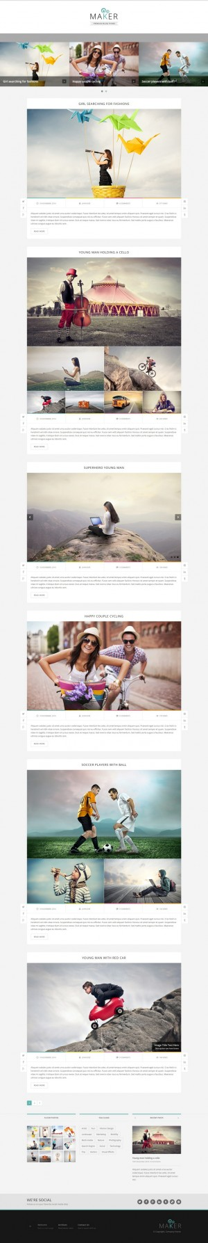 Maker is a super responsive and retina ready WordPress theme with unlimited colors and 7 post fo ...