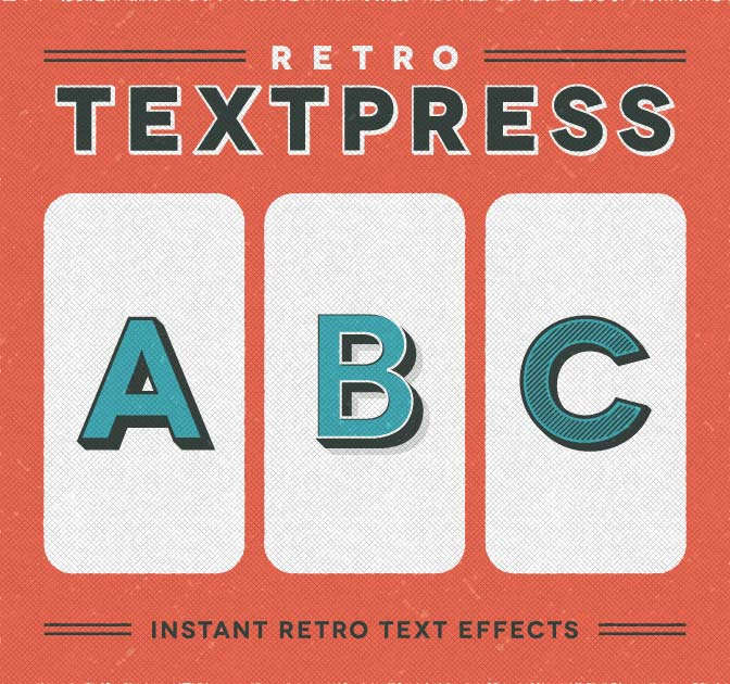 Retro Text Effects for Illustrator