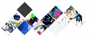 Patchwork personality.   I made this using different images from my various art projects.