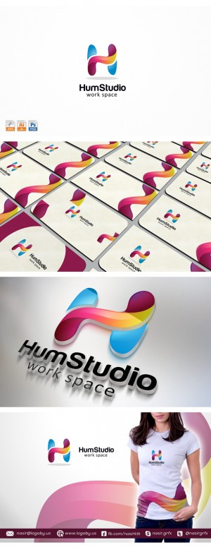 "This is ""Letter H Logo"" template. It stands out and instantly recognizable. Perfect for the Soci ..."