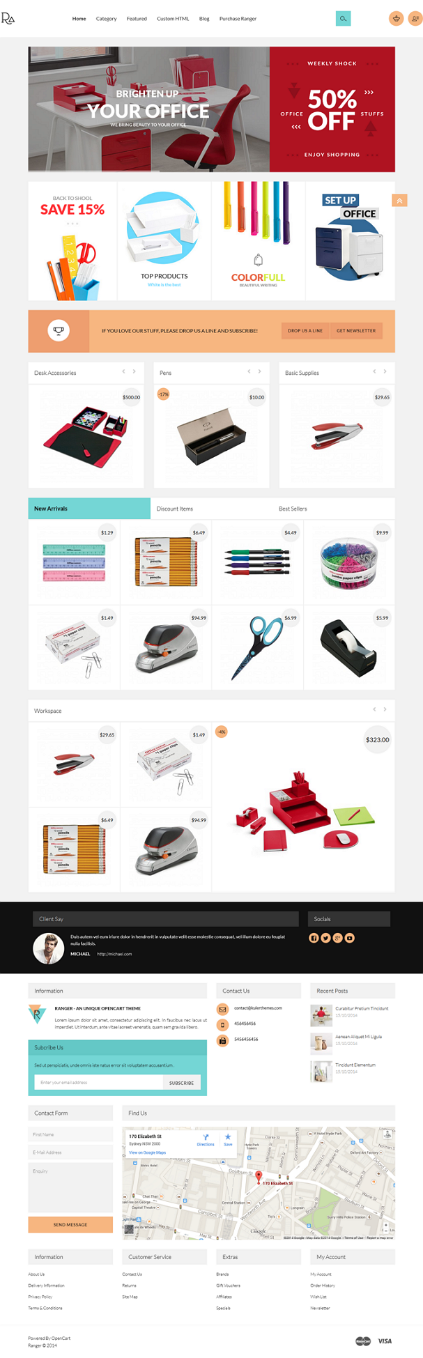Ranger A sublime stationery OpenCart theme