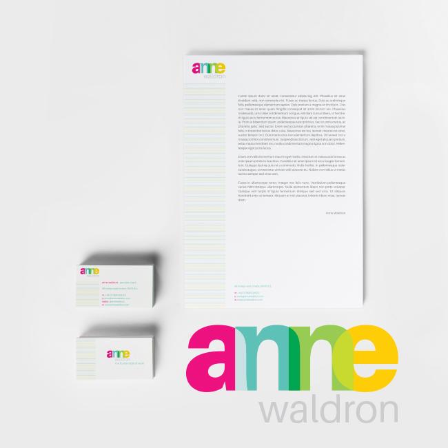 #Stationery Set Designed for Anne Waldron – #Branding #print #identitydesign #logodesign