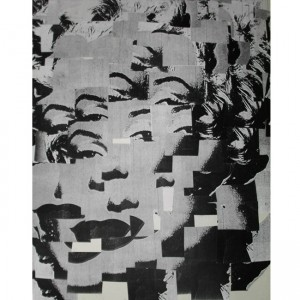 #throwbackThursday Old College piece – #collage #marrilynmonroe #graphicdesign