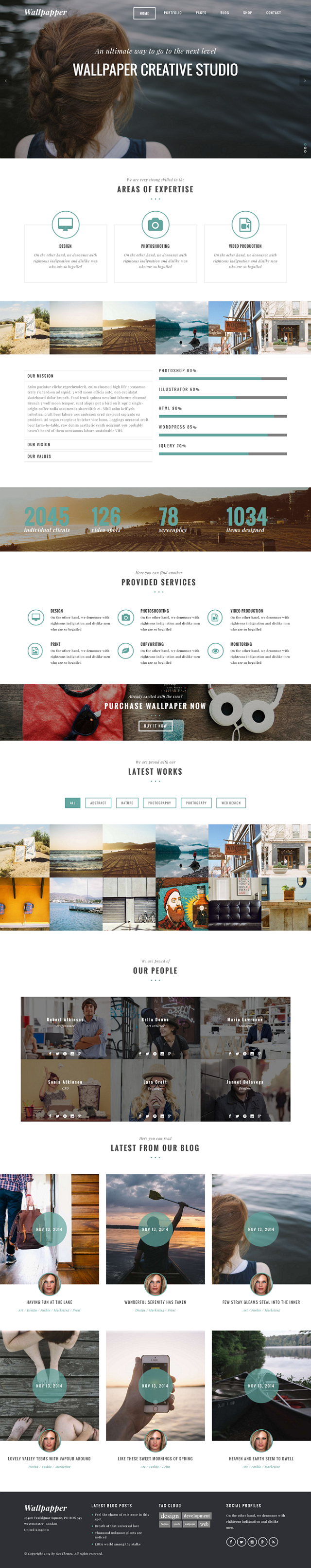 Wallpaper is a modern WordPress theme for your agency, studio or design company. You can customi ...