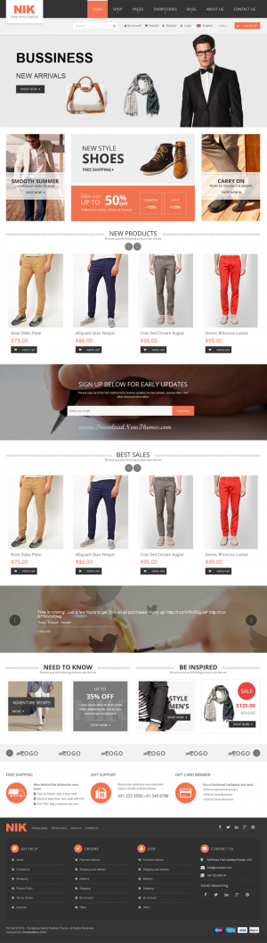 Nik would be a perfect choice for any eCommerce websites, especially men's fashion, jewelry or w ...