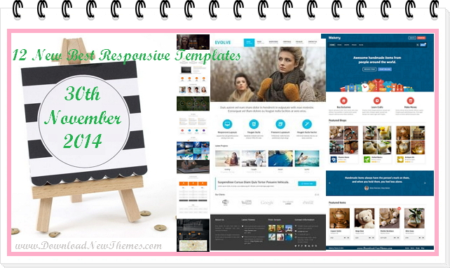 12 new best Responsive websites themes of 30th November 2014.