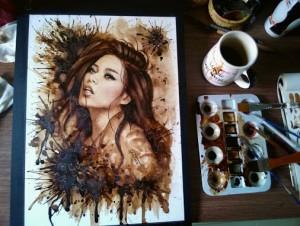 Coffee Paintings ..