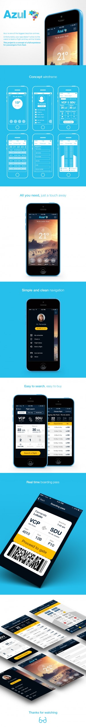 Azul Airlines – Iphone App