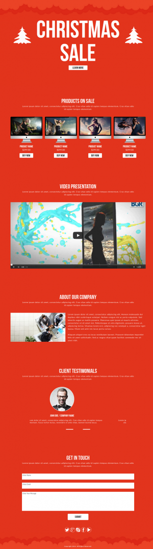 Christmas Sale is a Muse Template designed for holiday season discount websites.