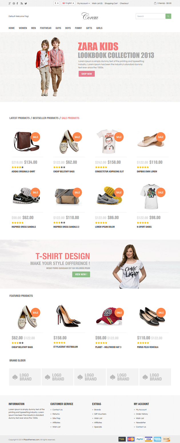 simple and clean fashion store theme