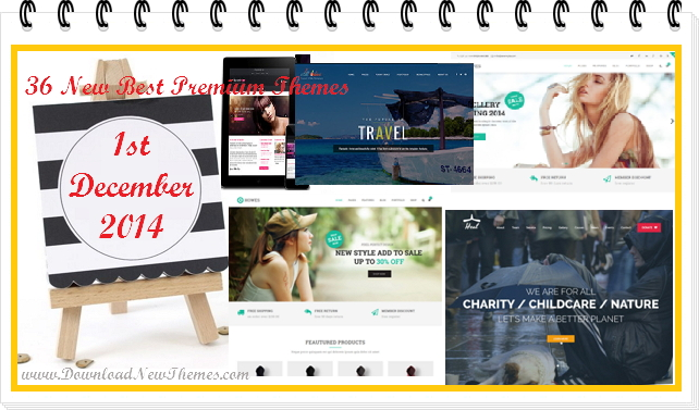 36 new best Responsive websites themes of 1st December 2014