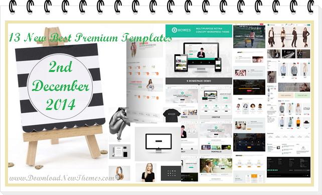 13 New Best Premium Templates (2 Dec 2014)