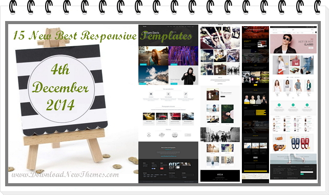 15 new best Responsive websites themes of 4th December 2014