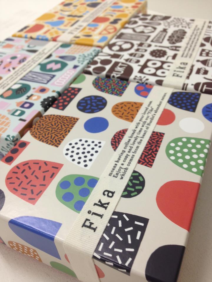 Hanna and Leena made packaging design for Isetan department store's new Fika Scandinavian deli i ...