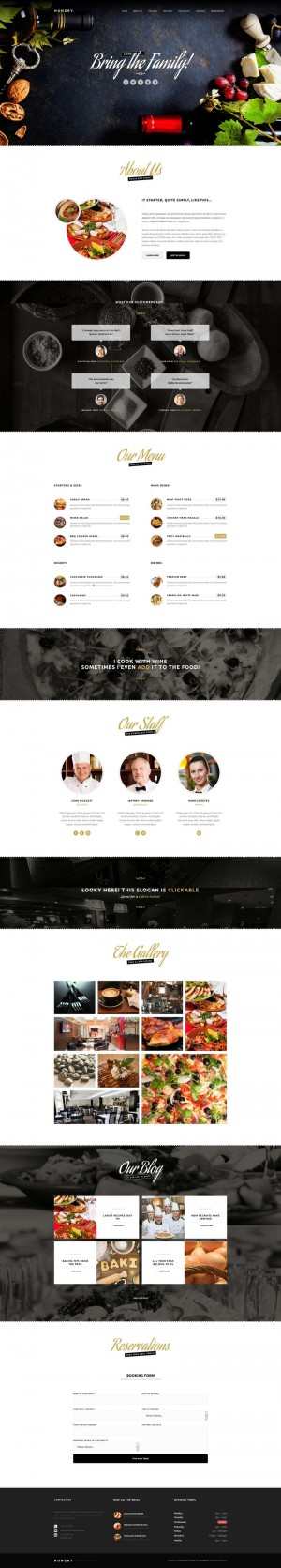 Hungry – A One-Page Restaurant Template