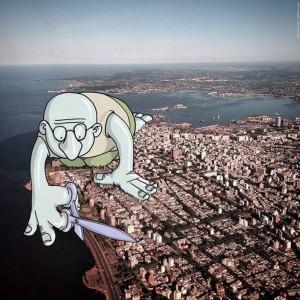 Lucas Levitan Adds Cartoons to Photographs | Downgraf
