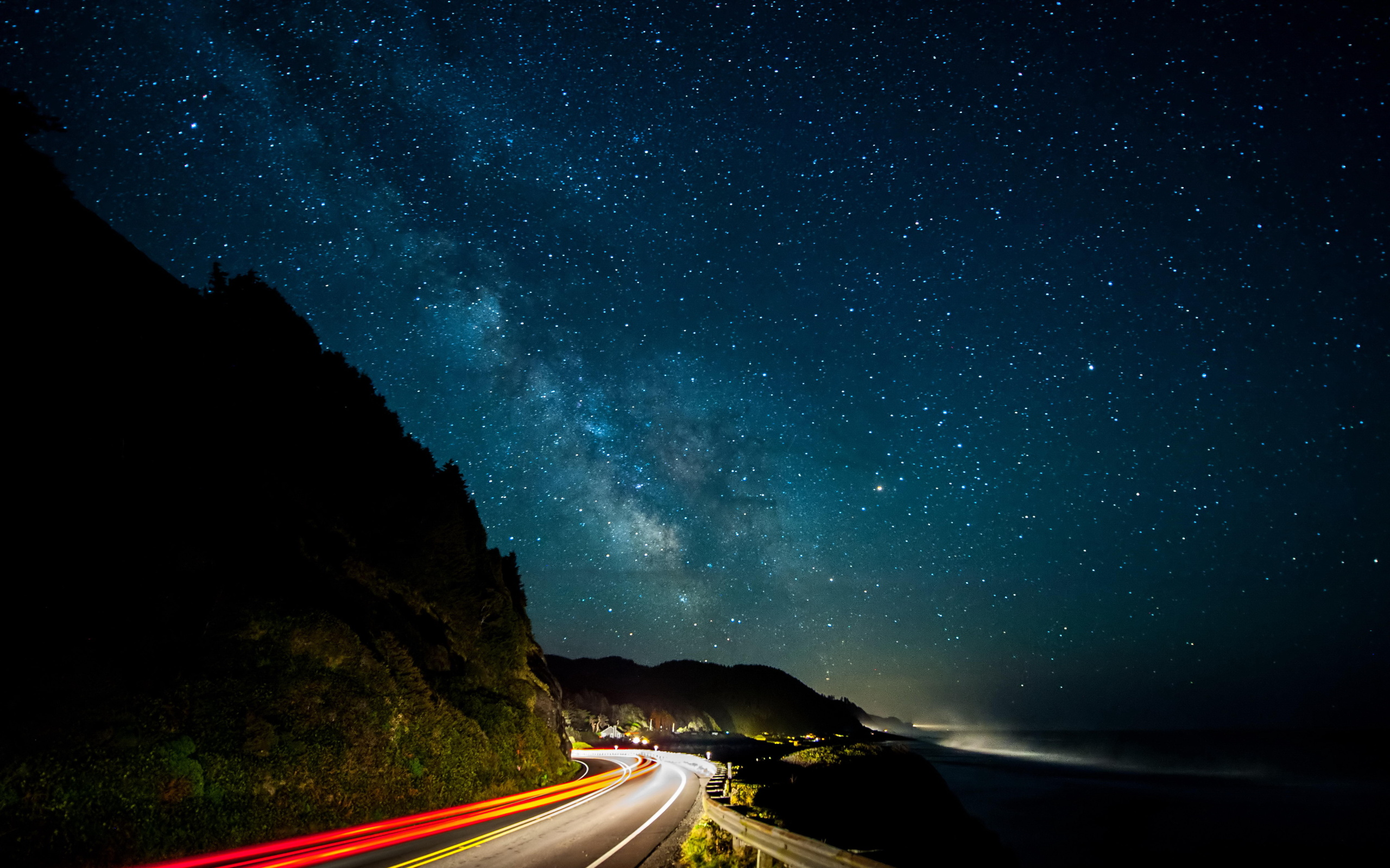 Milky Way Stars Night Road – Photography Wallpapers