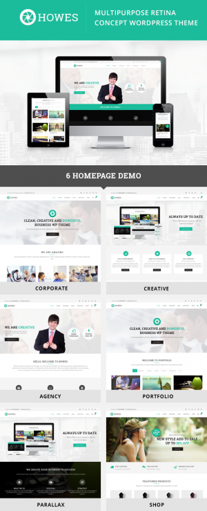 Howes is an new responsive Multipurpose WordPress Theme. This theme comes with 6 homepage layout ...
