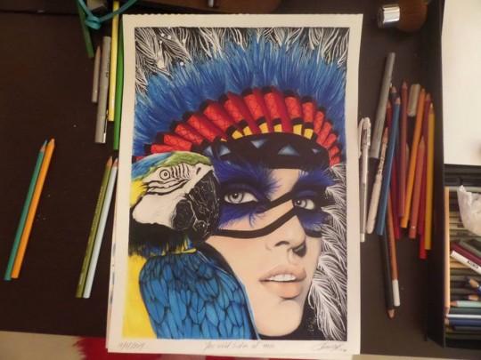 Coloured Pencil Art