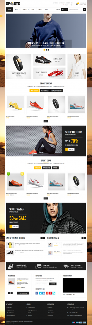 Ovansport – A fresh and clean design