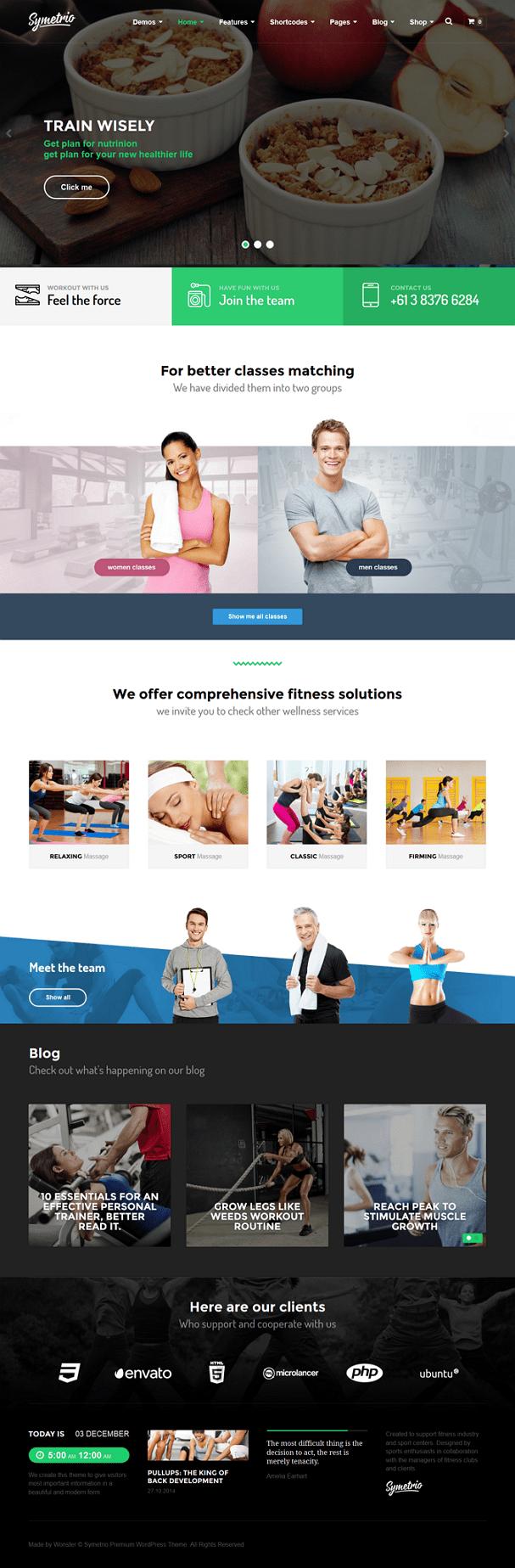 Symetrio is ready to use multipurpose responsive sports website WordPress Theme. This theme is p ...