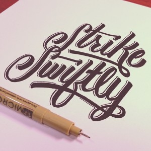 Stunning Hand Lettering by Wells Collins   Downgraf