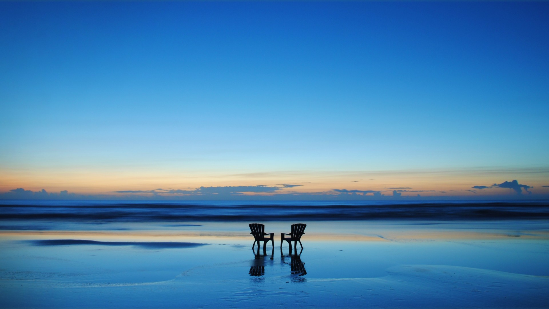 Two Empty Chairs on The Beach – Photography Wallpapers