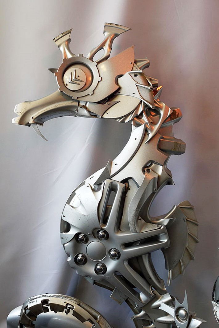 Wonderful Hubcaps Creatures by Ptolemy Elrington