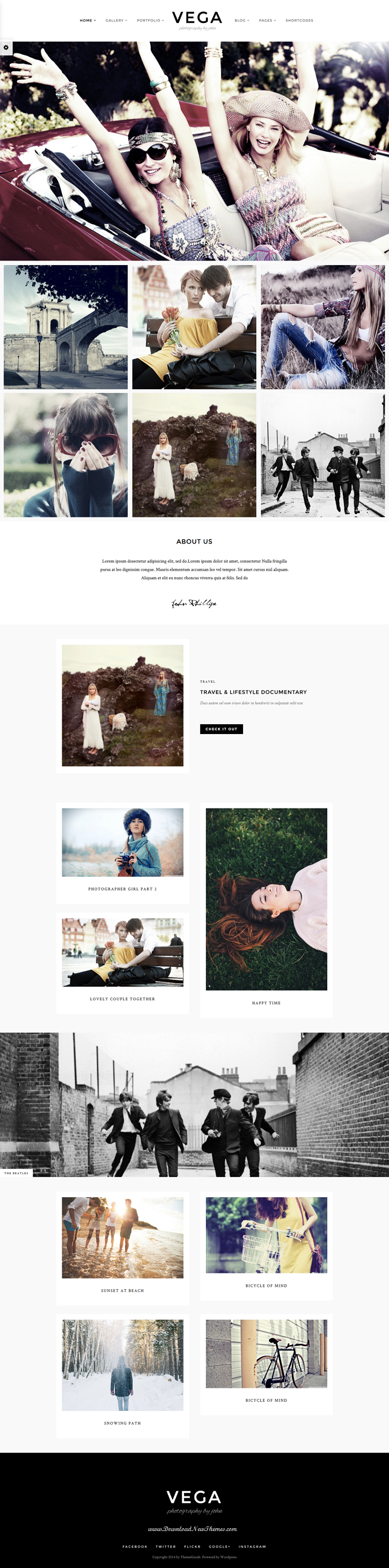 Vega is a unique creative Portfolio WordPress Template that is suitable for any personal and pho ...