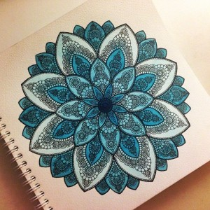 Coloured mandala design