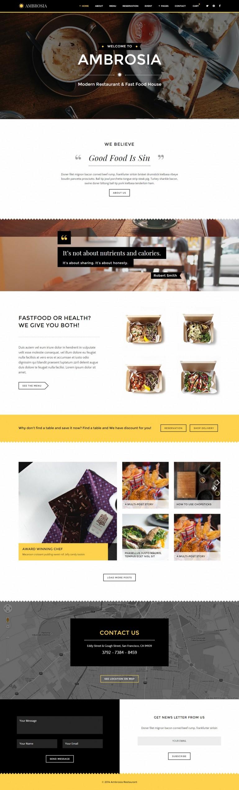 Ambrosia – Creative Restaurant