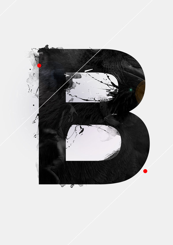 """B"" the alphabet of knarf art by Knarfart"
