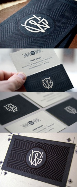 Beautifully Textured Letterpress Business Card Design