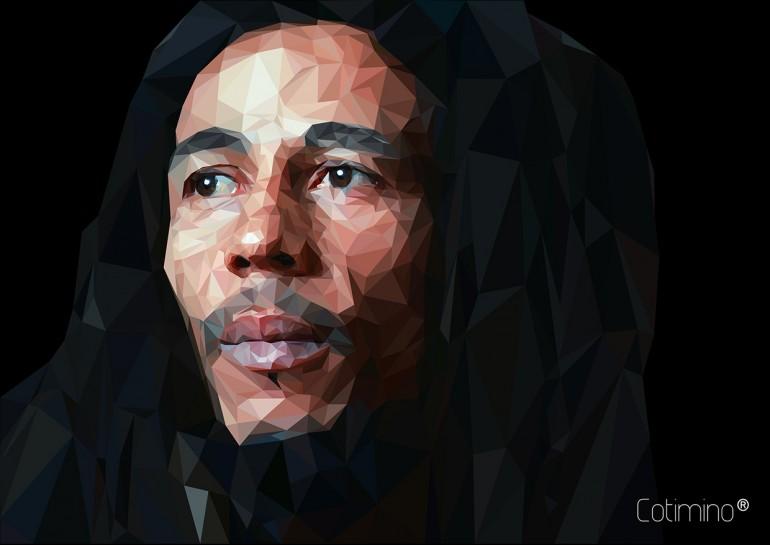 Bob Marley Low poly