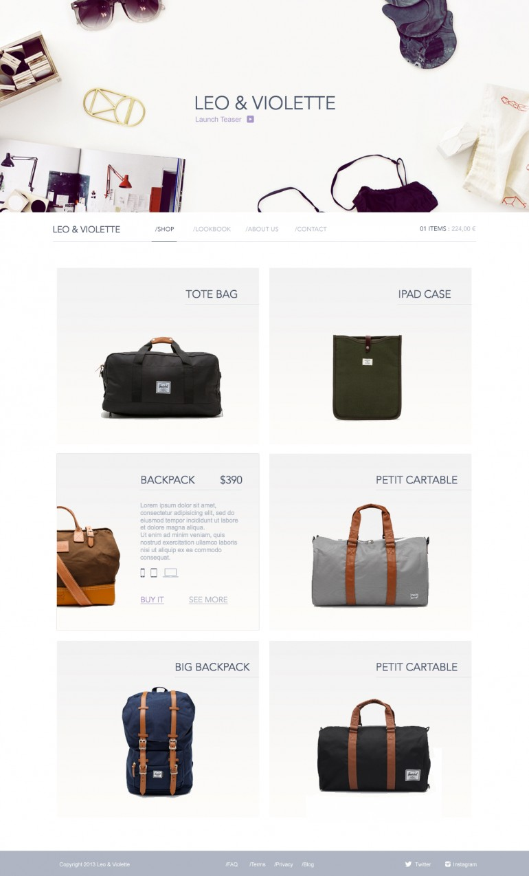 Homepage by Barthelemy Chalvet