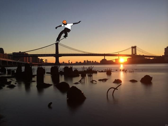 Eliska Adds Humorous Illustrations to Photos of New York