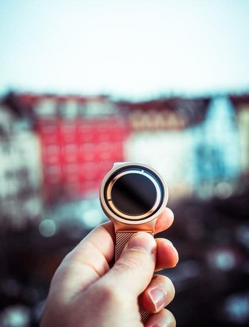Eclipse Metallic Rose Gold Watch by Ziiiro