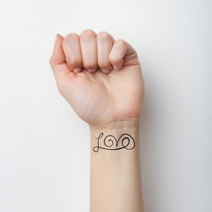 Love Temporary Tattoo (Set of 2)