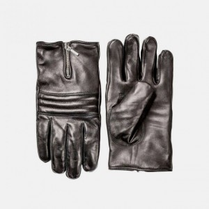 Russel Black Leather Gloves by Hestra