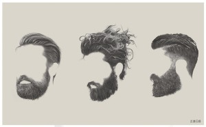 More ghostly beards, beards and beards.