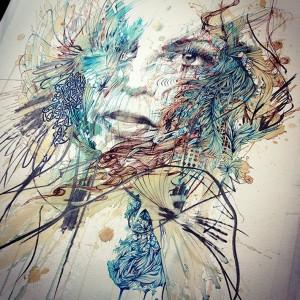 Ink and Tea Portraits at London Art Fair 2015 | Downgraf