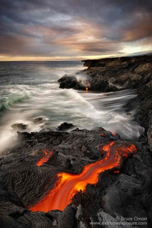 Lava Photography by Bruce Omori