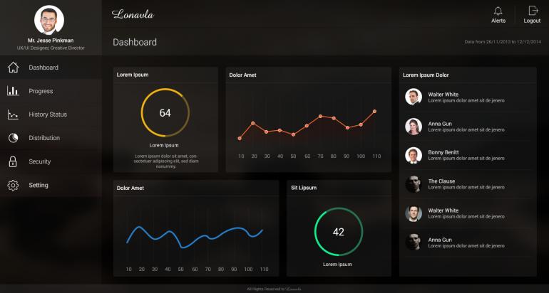 Minimal Transparent Web app Freebie