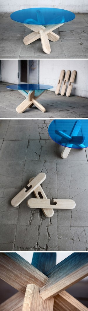 Designer: Ding 3000 : Assembling the table!