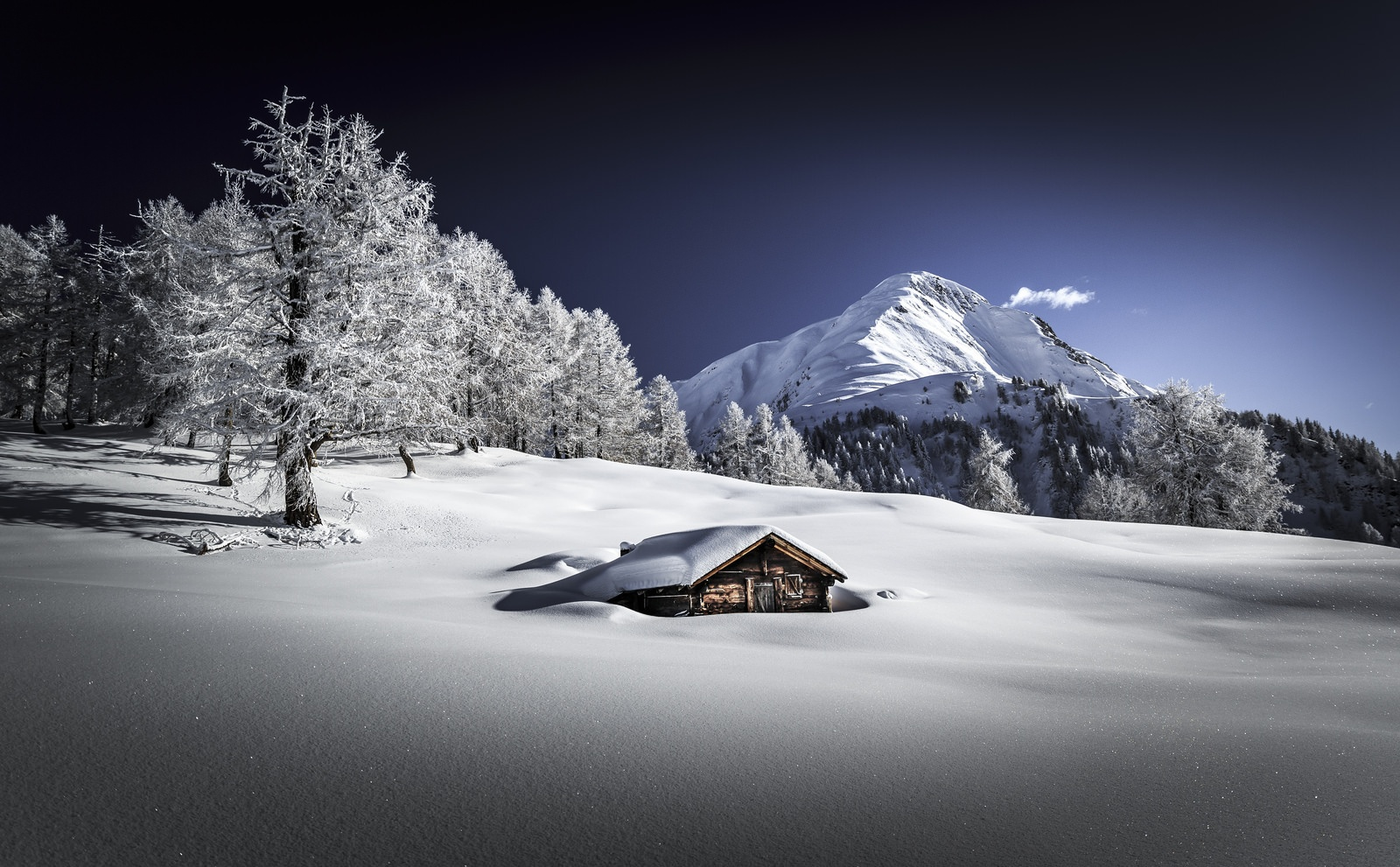 Snowy Landscapes by Frederic Huber