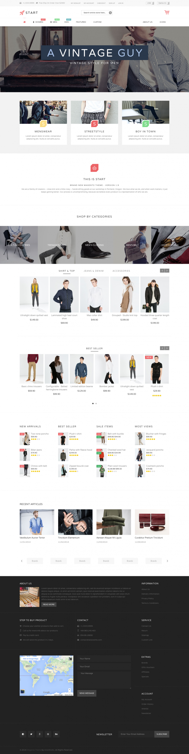 Start – Minimalist Template by linharex