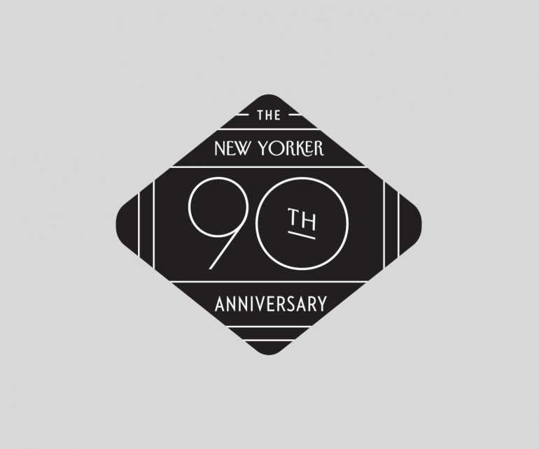Logo for the New Yorker's 90th Anniversary.