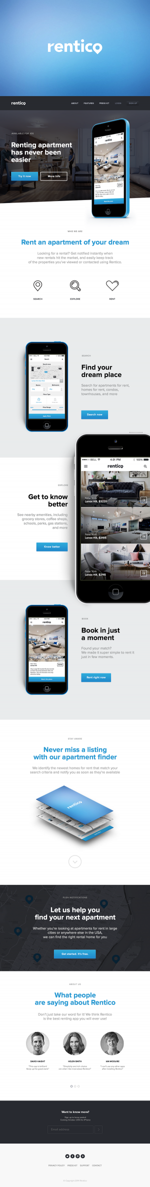 Rentico – mobile application for renting an apartment by Serge Vasil